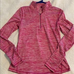 Pink workout jacket with half zipper